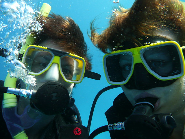 Scuba diving on the Great Barrier Reef, Australia