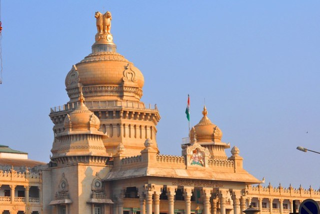 Vidhana Soudha ( State Legislature House), Bangalore under the morning Golden SunLight