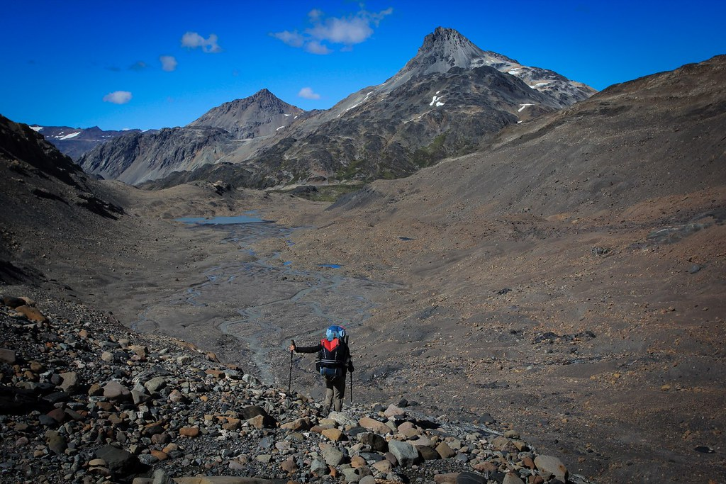 Diversing into Argentine soil on the Ruta de los Pilcheros. Aysen, Patagonia, Chile.