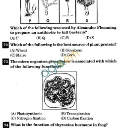 NSTSE 2011 Solved Question Paper for Class VIII - Biology   AglaSem Schools [ 1907 x 1358 Pixel ]