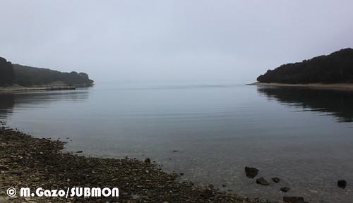 Bahía en el Parque Nacional Brijuni, Croacia