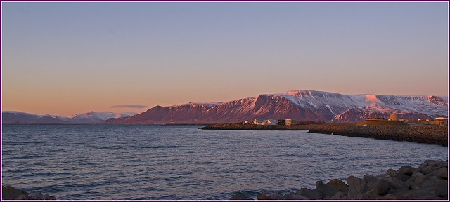 Reykjavik evening sunlight