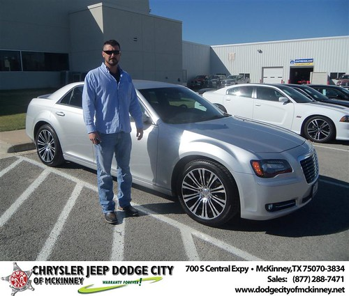 Congratulations to Brandon Dunaway on the 2012 Chrysler 300 by Dodge City McKinney Texas