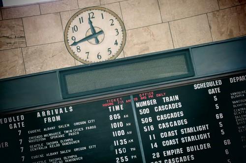 Scheduled arrivals and departures
