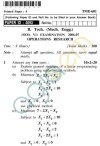 UPTU B.Tech Question Papers - TME-601 - Operations Research