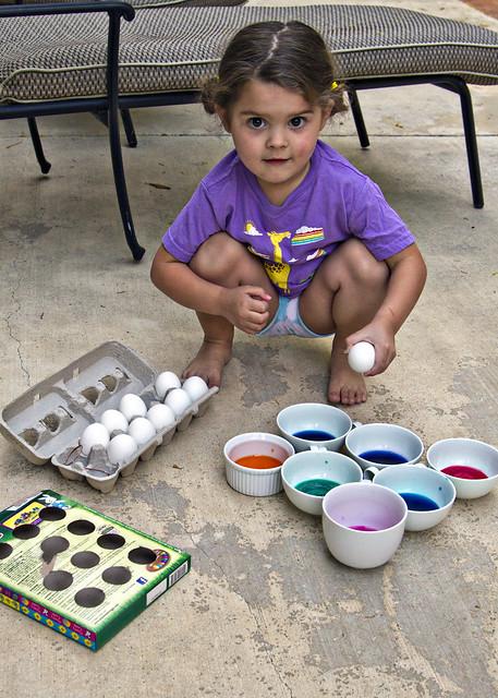 egg dye time