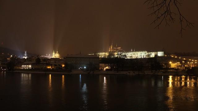 Malá Strana and Hradčany by night, Prague