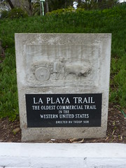 P1170215 Marker for La Playa Trail at Mission San Diego by jawajames
