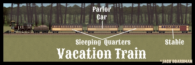 Vacation Train Cars