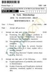 UPTU B.Tech Question Papers -TBT-601 - Bioinformatics-II