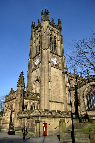 Manchester Cathedral by Angela Seager