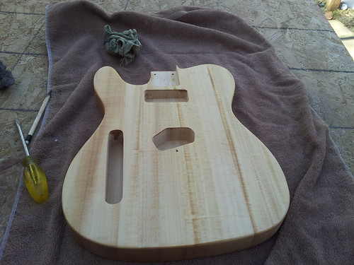 Telecaster Body with Stain Conditioner