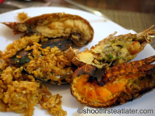 lobster paella, lobster thermidor, loster tandoori
