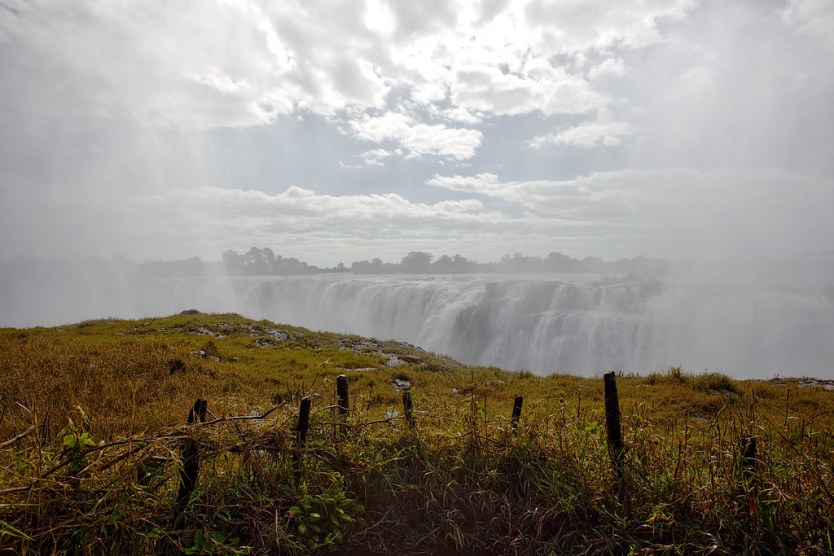 The mist can be so intense at times it blocks out the falls.