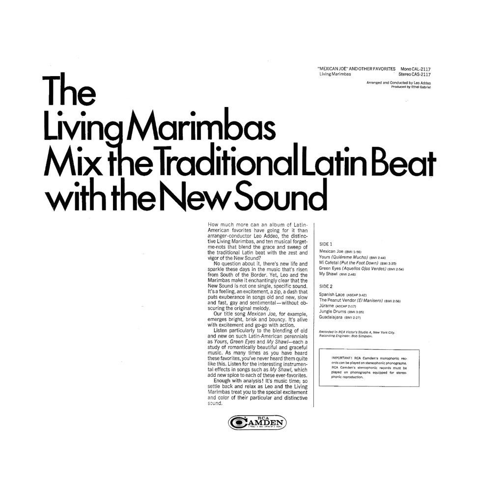 Living Marimbas - Mexican Joe