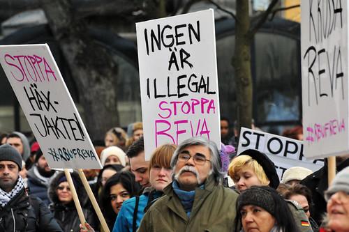 Några av oss 2000 som demonstrerade i Stockholm. Foto: Anders Henrikson, CC-BY 2.0.