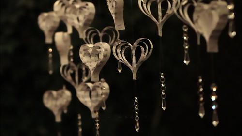 Handmade Sheet Music Heart Backdrop