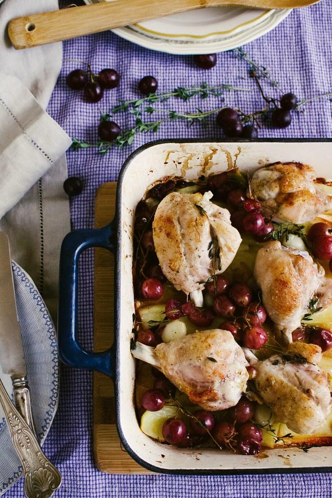 No Recipe Chicken and Grape Bake