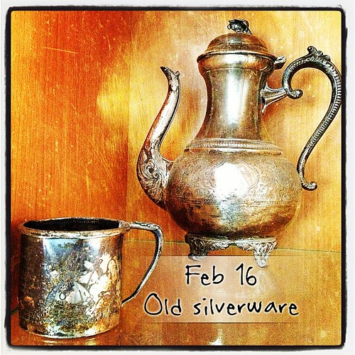 Feb 12 - old silverware {family heirlooms} #photoaday