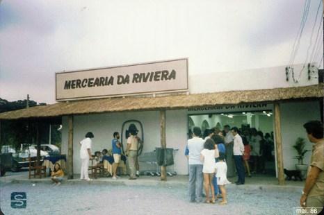 1986 - Inauguração da Mercearia da Riviera no atual Centrinho Comercial na Av. da Riviera