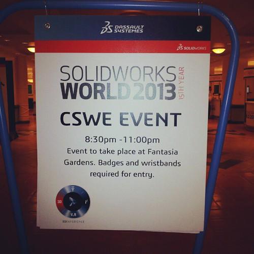 #CSWE event location.