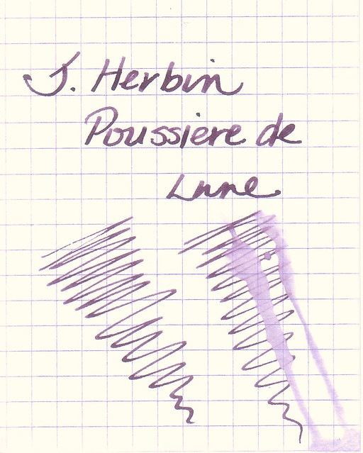 J. Herbin Poussiere de Lune Water Resistance Test