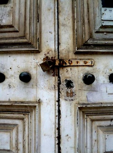 Old Door, China Town, Manchester by Angela Seager
