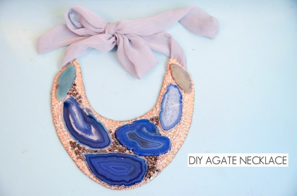 DIY Agate Statement Necklace