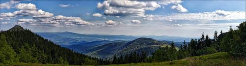Blick vom Arber nach Südosten
