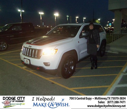 Congratulations to Elizabeth Roberts on the 2013 Jeep Grand Cherokee by Dodge City McKinney Texas