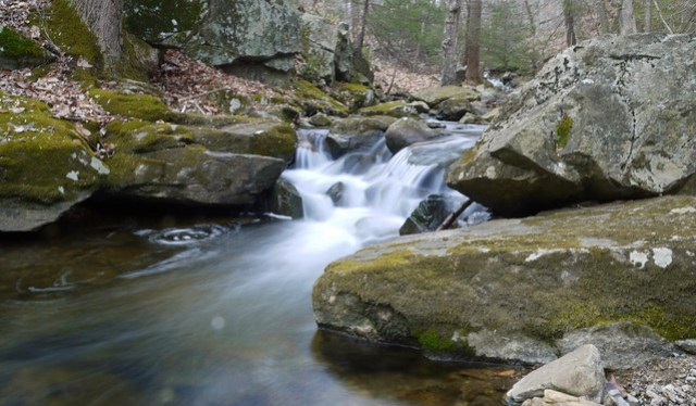 small cascade on Rhinehart Brook