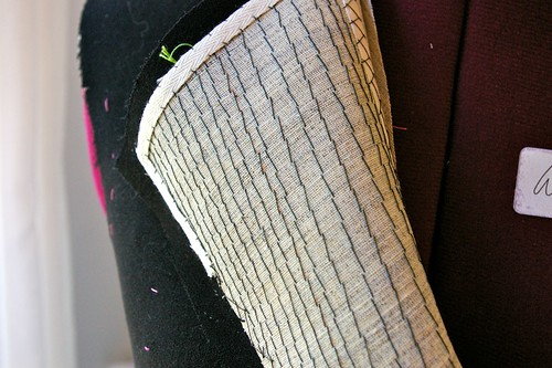 Pad Stitched Lapel
