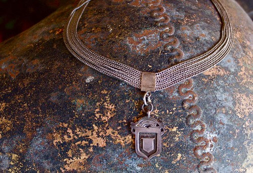 sweet,old silver neckpiece by denise carbonell