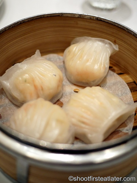 Red Lantern @ Solaire- shrimp dumplings with coriander & water chestnuts