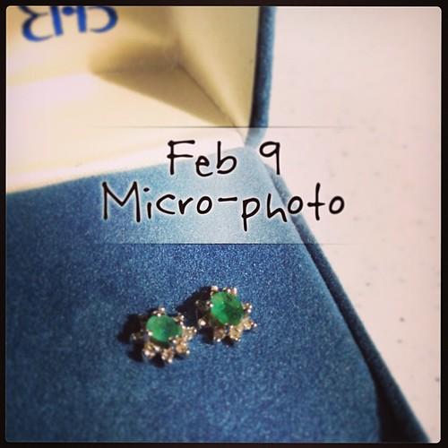 Feb 9 - micro-photo {my birthstone earrings} #photoaday