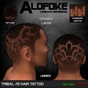 alofoke - tribal #2 hair tattoo
