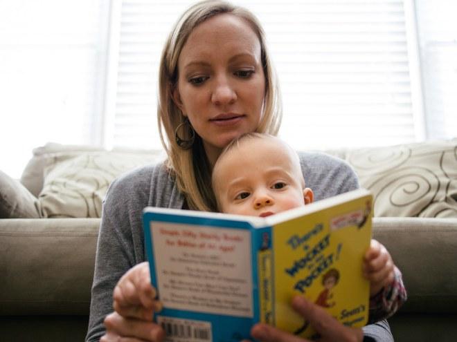 Anna and Noah reading