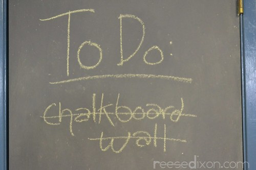 Chalkboard Wall Tutorial