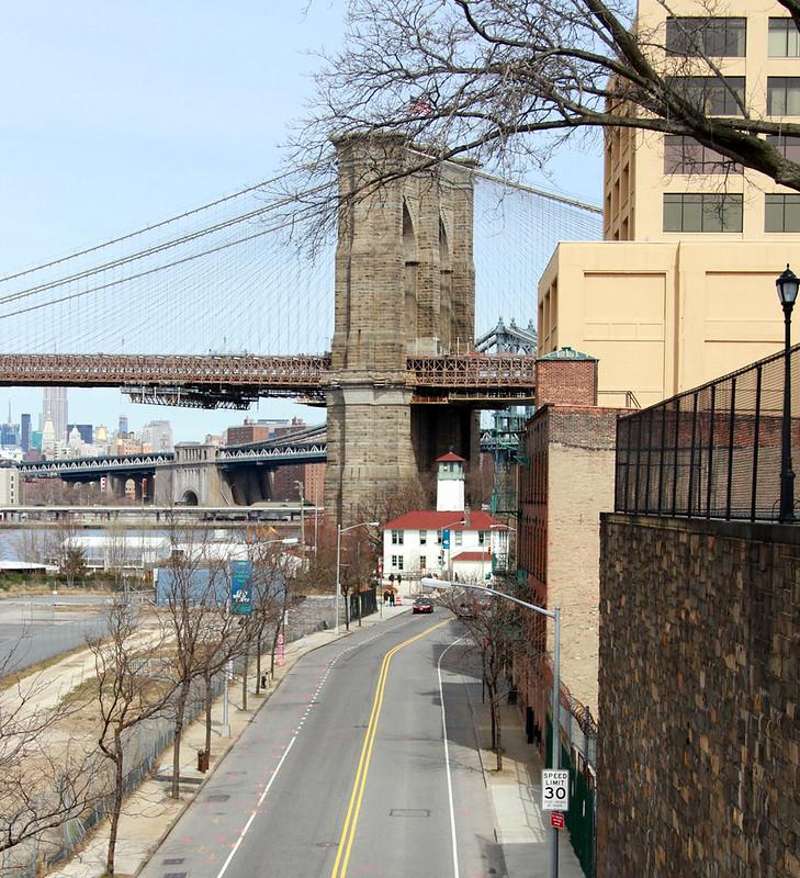 brooklyn bridge from squibb park bridge