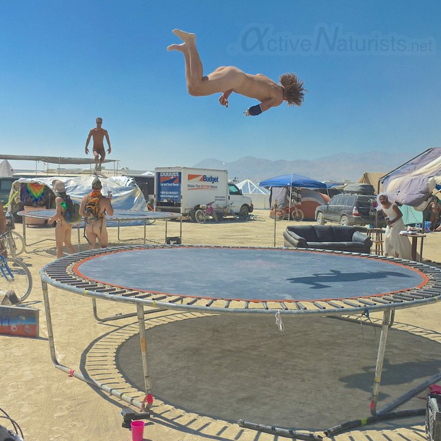naturist trampoline 0020 Burning Man 2012, Black Rock City, NV, USA