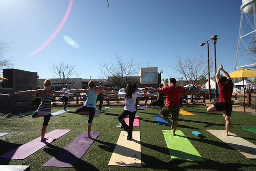 Yoga at Postino East
