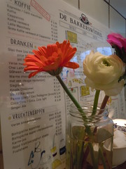Menu and Flowers