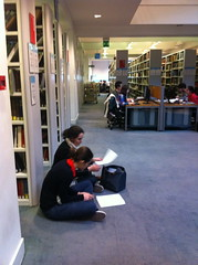 students at LSE library