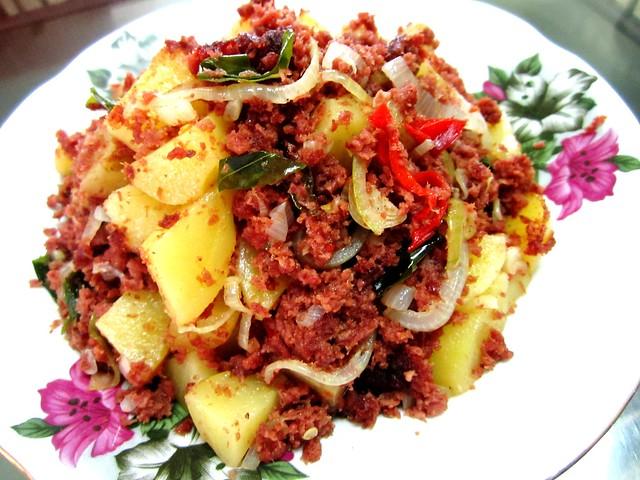 Corned beef with potatoes