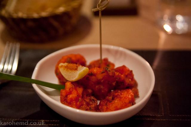 Koliwada lobster and shrimp