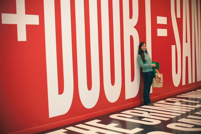 hirshhorn museum / barbara kruger belief+doubt