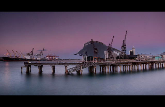 Fremantle Harbour at twilight