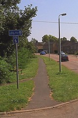 Start of shared use path in Witchford
