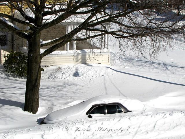 Car Beneath the Snow