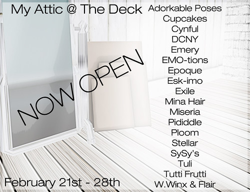 My Attic February - Now Open